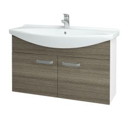 Dřevojas - Koupelnová skříň TAKE IT SZD2 105 - N01 Bílá lesk / Úchytka T01 / D03 Cafe (152215A)