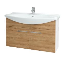 Dřevojas - Koupelnová skříň TAKE IT SZD2 105 - N01 Bílá lesk / Úchytka T02 / D09 Arlington (152260B)