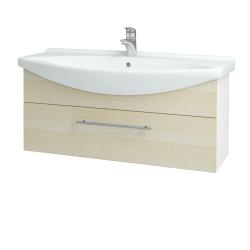 Dřevojas - Koupelnová skříň TAKE IT SZZ 105 - N01 Bílá lesk / Úchytka T02 / D02 Bříza (152659B)