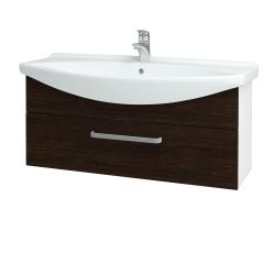 Dřevojas - Koupelnová skříň TAKE IT SZZ 105 - N01 Bílá lesk / Úchytka T01 / D08 Wenge (152703A)