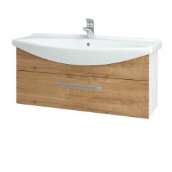 Dřevojas - Koupelnová skříň TAKE IT SZZ 105 - N01 Bílá lesk / Úchytka T01 / D09 Arlington (152710A)