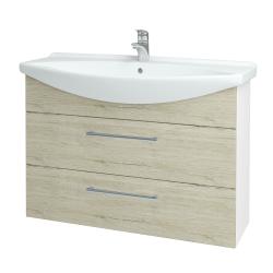 Dřevojas - Koupelnová skříň TAKE IT SZZ2 105 - N01 Bílá lesk / Úchytka T03 / D05 Oregon (153182C)