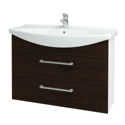 Dřevojas - Koupelnová skříň TAKE IT SZZ2 105 - N01 Bílá lesk / Úchytka T03 / D08 Wenge (153205C)