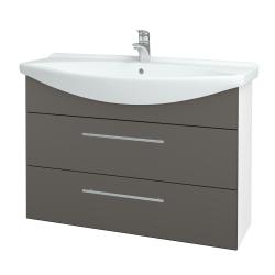 Dřevojas - Koupelnová skříň TAKE IT SZZ2 105 - N01 Bílá lesk / Úchytka T02 / N06 Lava (208011B)
