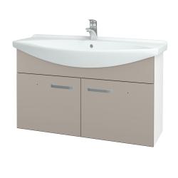 Dřevojas - Koupelnová skříň TAKE IT SZD2 105 - N01 Bílá lesk / Úchytka T01 / N07 Stone (206420A)
