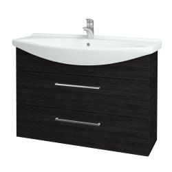 Dřevojas - Koupelnová skříň TAKE IT SZZ2 105 - D14 Basalt / Úchytka T04 / D14 Basalt (151409E)