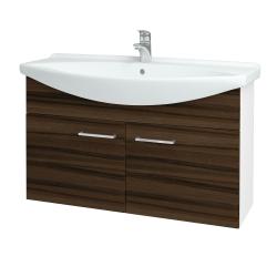 Dřevojas - Koupelnová skříň TAKE IT SZD2 105 - N01 Bílá lesk / Úchytka T04 / D06 Ořech (152246E)