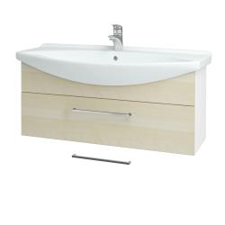 Dřevojas - Koupelnová skříň TAKE IT SZZ 105 - N01 Bílá lesk / Úchytka T04 / D02 Bříza (152659E)
