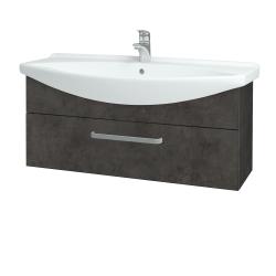 Dřevojas - Koupelnová skříň TAKE IT SZZ 105 - D16  Beton tmavý / Úchytka T01 / D16 Beton tmavý (207144A)