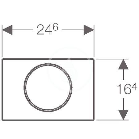 GEBERIT - Sigma10 Ovládací tlačítko SIGMA10, chrom mat/chrom (115.758.KN.5)
