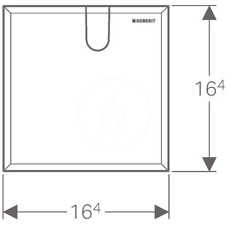 GEBERIT - Příslušenství Krycí deska pro umyvadlové baterie s funkčním boxem pod omítku (116.425.11.1)