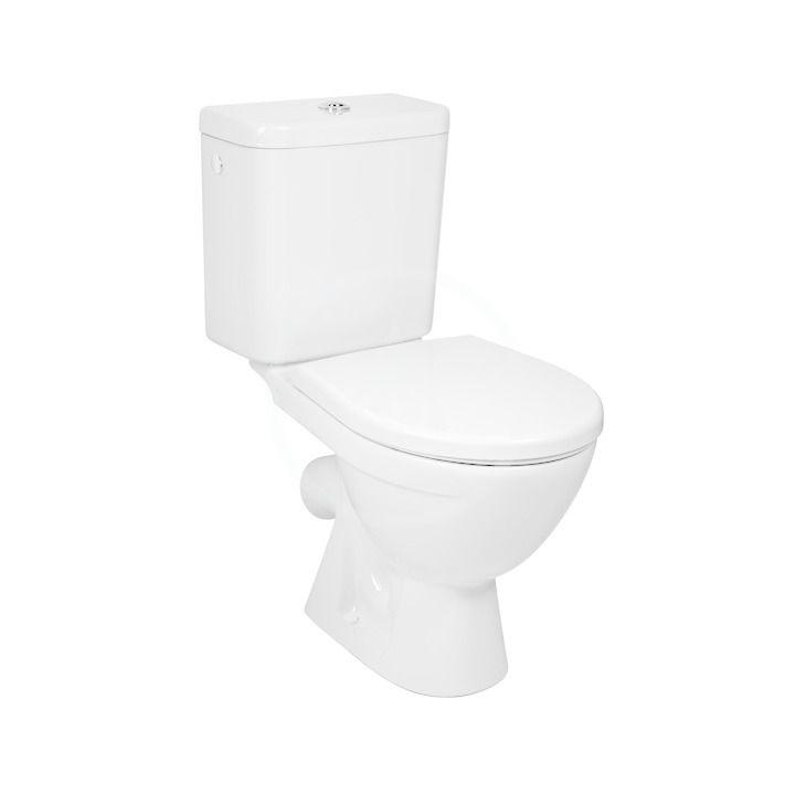 JIKA Lyra plus WC kombi s nádržkou, boční napouštění, Dual Flush, bílá H8263840002411