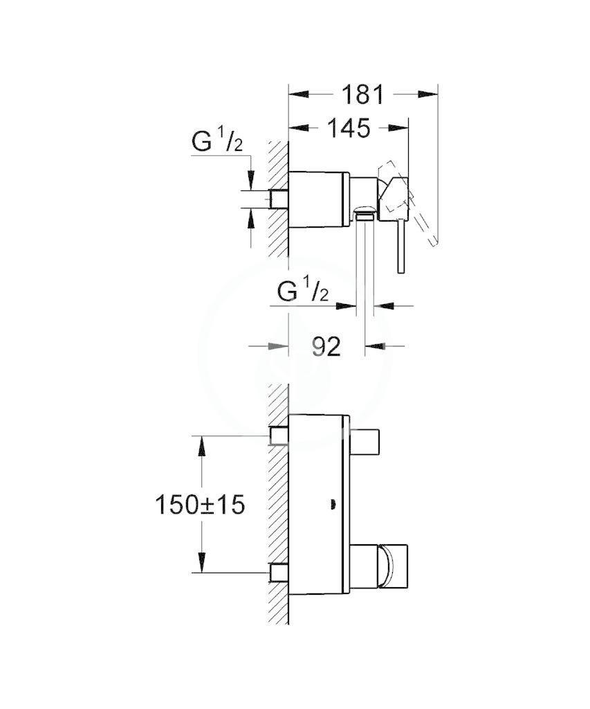 GROHE - Allure Páková sprchová baterie, chrom (32846000)