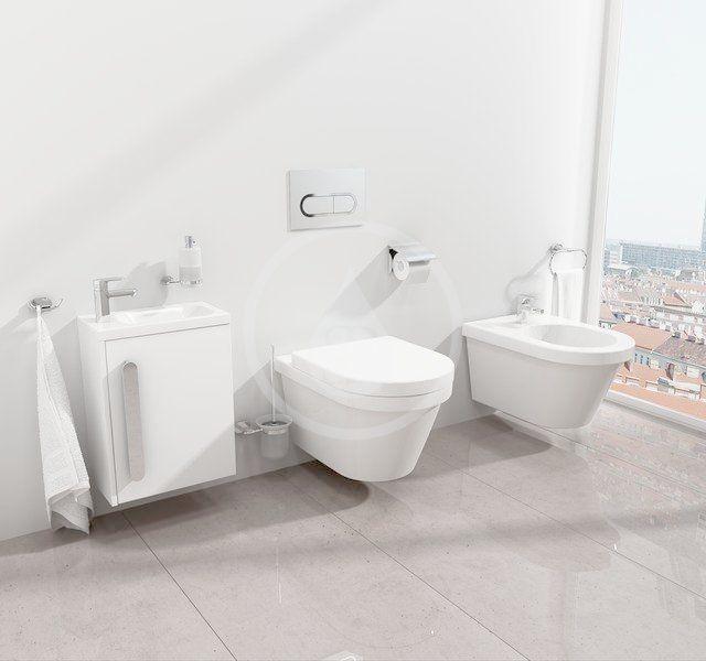 RAVAK - Chrome Ovládací tlačítko WC, chrom/bílá (X01455)