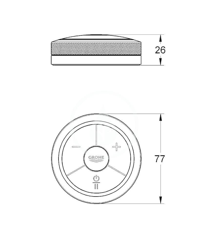 GROHE - Digital Dálkový ovladač pro vanový a sprchový regulátor, chrom (36309000)