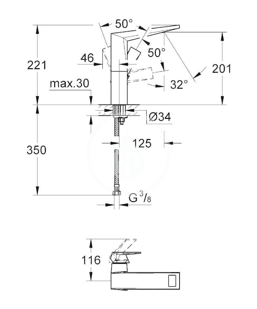 GROHE - Allure Brilliant Umyvadlová baterie, chrom (23112000)