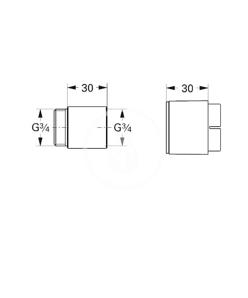 GROHE - Příslušenství Prodlužovací set, 30 mm, chrom (46238000)