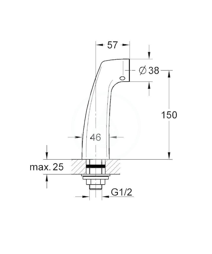 GROHE - Příslušenství Kolínko pro stojánkovou montáž, chrom (12036000)