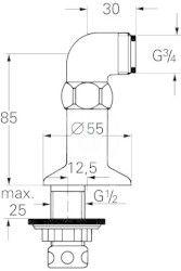 GROHE - Příslušenství Kolínko pro stojánkovou montáž, chrom (12041000)