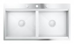 Dřezy Dřez K800 s automatickým odtokem, 1024x560 mm (31585SD0) - GROHE