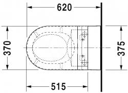 DURAVIT - Starck 2 Závěsné WC pro bidetové sedátko SensoWash, s WonderGliss, alpská bílá (25335900001), fotografie 4/5