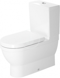 DURAVIT - Starck 3 WC kombi mísa, s WonderGliss, bílá (21410900001)
