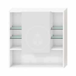 JIKA - Lyra Zrcadlová skříňka, 775x132x800 mm, bílá (H4532510383041)