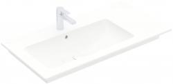 VILLEROY & BOCH - Venticello Umyvadlo nábytkové 1000x500 mm, s přepadem, otvor pro baterii, CeramicPlus, alpská bílá (4134L1R1)