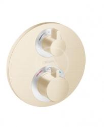 HANSGROHE - Ecostat S Termostatická baterie pod omítku pro 2 spotřebiče, kartáčovaný bronz (15758140)