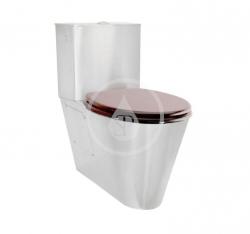 SANELA - Nerezová WC WC kombi pro tělesně postižené, antivandal, nerez (SLWN 16)