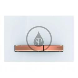 GEBERIT - Sigma50 Ovládací tlačítko pro 2 množství splachování, bílá/červené zlato (115.670.11.2)