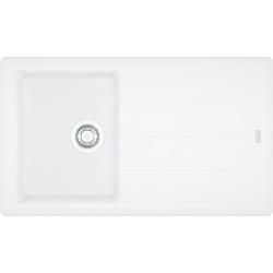 FRANKE - Basis Fragranitový dřez BFG 611-86, 860x500 mm, bílá-led (114.0494.912)