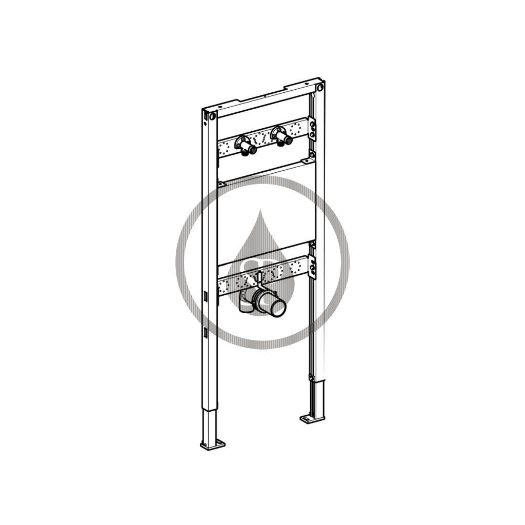 GEBERIT - Duofix Montážní prvek pro výlevku, 130 cm, nástěnná armatura na omítku (111.450.00.1)