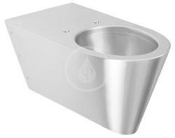 SANELA - Nerezová WC Nerezové závěsné WC pro tělesně handicapované (SLWN 11)