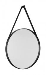 SAPHO - ORBITER zrcadlo kulaté s páskem, ø 60cm, černá mat (ORB060)