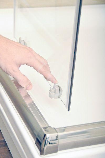 RAVAK - Blix Čtvrtkruhový sprchový kout čtyřdílný BLCP4-90 Sabina, 880-900 mm, lesklý hliník/čiré sklo (3B270C40Z1)