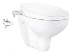 GROHE - Bau Ceramic Manuální bidetové sedátko s keramikou a termostatem, softclose, alpská bílá (39652SH0)