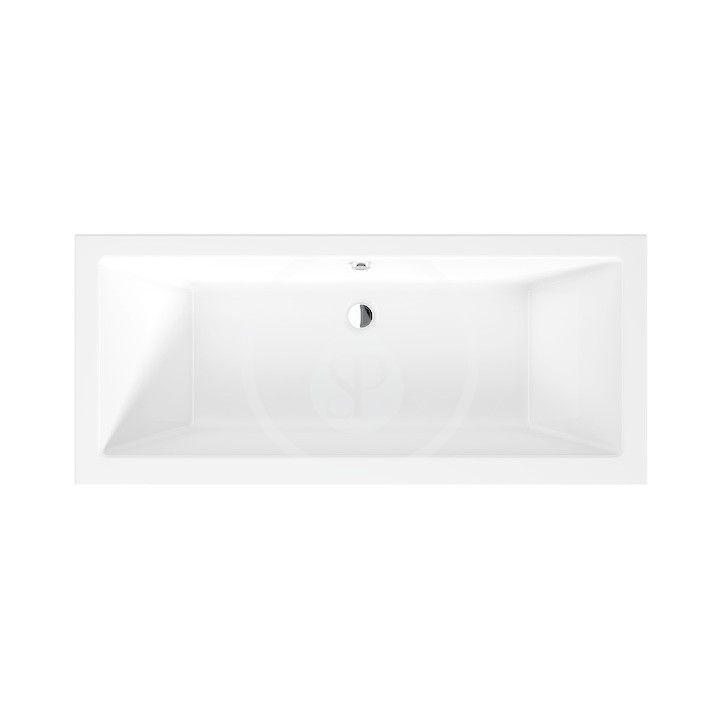 JIKA Cubito Pure Vana 1700x750 mm, odpad uprostřed, bílá H2264200000001