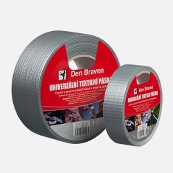 DenBraven lepící páska pevnostní 50mm délka 10m stříbrná univerzální B8041RL POWER TAPE (B8041RL)