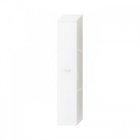JIKA - Deep Vysoká skříňka závěsná, 300mm x 270mm x 1620mm - skříňka, pravá, korpus bílý, dveře bílé (H4541524345001)