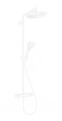 HANSGROHE - Croma Select S Sprchový set Showerpipe 280 s termostatem, EcoSmart, matná bílá (26891700)