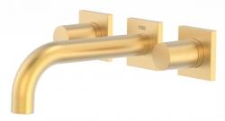 TRES - Nástěnná umyvadlová baterie, včetně nerozdělitelného zabudovaného tělesa, ramínko 164mm (21115101OM)