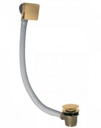 TRES - Odtoková a napouštěcí vanová hranatá souprava KASKÁDA s přepadem zátka O70mm CLICK-CLACK (03453440OM)