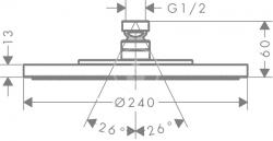 AXOR - Sprchový program Horní sprcha průměr 240 mm, chrom (28494000), fotografie 8/4