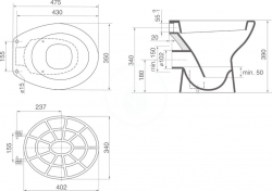 IDEAL STANDARD - Výlevky Výlevka stojící, 350 x 475 x 390 mm, bílá (V312701), fotografie 2/1