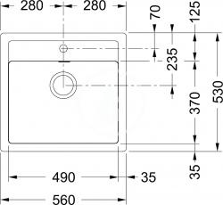 FRANKE - Sirius Tectonitový dřez SID 610, 560x530 mm, kávová (114.0264.013), fotografie 4/3
