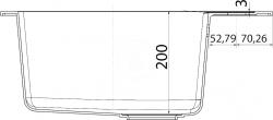 FRANKE - Sirius Tectonitový dřez SID 610, 560x530 mm, kávová (114.0264.013), fotografie 6/3