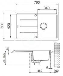 FRANKE - Sety Kuchyňský set G67, granitový dřez BFG 611-78, grafit + baterie FG 9541.031, chrom (114.0365.151), fotografie 2/2