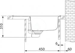 FRANKE - Sety Kuchyňský set G54, granitový dřez BFG 611-62, pískový melír + baterie FC 650, chrom (114.0323.800), fotografie 4/2