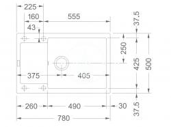 FRANKE - Sety Kuchyňský set G78, granitový dřez MRG 611-78 BB, šedý kámen + baterie FG 7486, šedý kámen (114.0365.713), fotografie 4/2